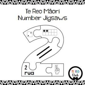 Te Reo Māori Number Jigsaws