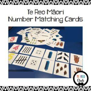 Te Reo Māori Number Matching Cards