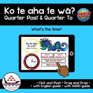 te reo Maori quarter past quarter to